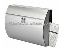 Stainless Steel Letter Box Glass Lockable with Newspaper Slot / convenient Newspaper Compartment