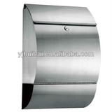 stainless steel wall mounted mailbox letterbox