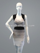 Knee length grey party wear dress patterns for mature women dress