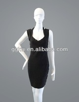 Women evening dress designer one piece dress hot selling black formal dress