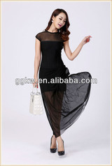 new arrivals 2014 long evening dresses,black maxi bandage dress