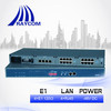 SNMP based Ethernet to 4E1 Converter with 4 Copper Ethernet Ports(120ohm,DC)