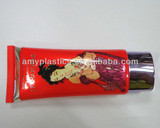 oval tube with offset printing for cosmetic packaging,red flexible tube for skin care products