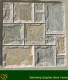 beige-gery mushroom face wall covering mosaic interior slate mosaic