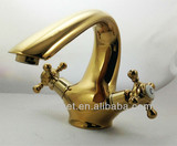 double handle gold bathroom faucet