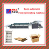 High speed semiautomatic flute laminating machine