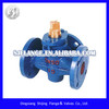 gray cast iron three-way plug valve