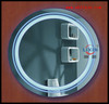 LED Round Hotel Bathroom Mirror With Blue Light
