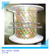 2014 hotsale colorful rainbow chain crystal cup chain