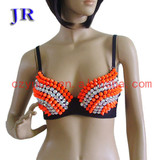 Girls dancing wear bra belly dance beaded bra Mei Shu Lan Na Bra YD007#