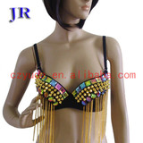 Beaded sequins bra belly dance sex bra Mei Shu Lan Na Bra YD005#