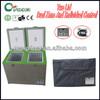 100L protable dual zone camping 12v car fridge camping freezer