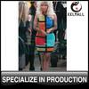 Women Clothes Factory Goods Sleeveless Patchwork Bodycon Dress