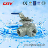 Stainless Steel L Type Three Way Ball Valve