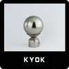 Polished Chrome Metal Curtain Rod Finial for Curtain Rod Parts