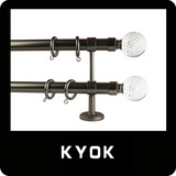 New Design Decorative Stainless Steel Color Double Curtain Rod with Crystal Finial