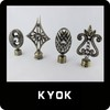 Various Kinds of High Quality Plating Curtain Finials