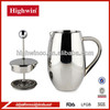 China Manufacturer Stainless Steel Double Coffee Pot Maker