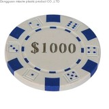 plastic chip/dice chip/casino chip
