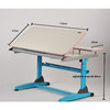 height adjustable hand cranked nursing eye writing table