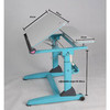 height adjustable hand crank eye protection writing desk