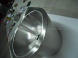 stainless steel semicircle wash basin with surrounding board