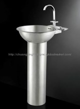 Stainlless steel upright post basin
