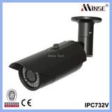 Manual Focus and Zoom Digital IP Camera, Outdoor IP Bullet Camera