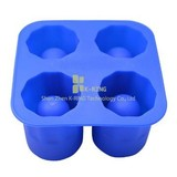 fish shape silicone ice cube tray