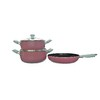 Pink 5PCS cookware set