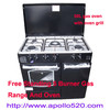 Free Standing 5 Burner Gas Cooking Range with Oven