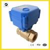Mini 2-way 3-6VDC,12VDC,24VDC.220VDC motorized valve can replace solen