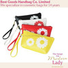 Hot sale flower design PU cosmetic bag clutch bag