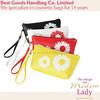 Hot sale flower design PU cosmetic bag clutch bag
