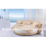 P144 Round Bed,Luxury Round Bed,Upholstered Bed,Bedroom Round Bed