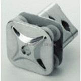 articulated glass clamp for un-hole glass wall