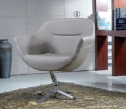 office swivel metal PU leather chair