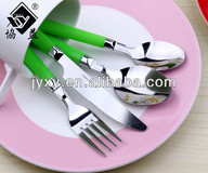 Machine Polishing Wholesale Stainless Steel PP Plastic Handle Cutlery