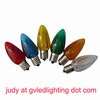 Smooth LED C9 Holiday Lights for Christmas Decoration, Replacement LED Bulb, UL-approved