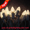 Strawberry-faced LED C7 Christmas Lights for Holiday Decoration, UL-approved, with E12 Base