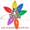 C7 LED Replacement Christmas Bulbs for Holiday Decoration, UL-approved