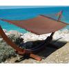 caribbean jumbo hammock size:200x140 YH-E09-BRN