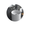 Anstiem AT-6002 white freestanding stone resin wash basin