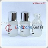screw-neck frosted glass bottle with alum cap mini bottle glass perfume