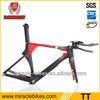 2014 new carbon frame triathlon,china design bicycle frame Integrated Carbon TT Frame, adjustable stem