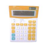 Large display dual power office desktop calculator