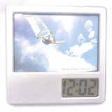 Folded up pen holder digital clock with photo frame 529 meet CE and RoHS best for Chrismas gift