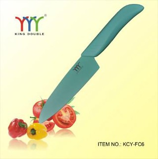 Best quality 6 inch coating colour ceramic knife