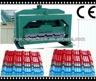 Step-tile roof forming machine for Nigeria