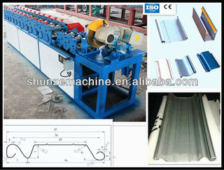 Slate Rolling Strip Shutter Door Forming Machine with fly saw